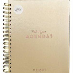 New Ted Baker Gold 52 Week Agenda Planner